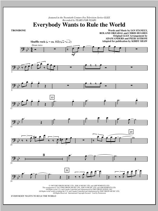 Everybody Wants to Rule the World - Trombone Sheet Music