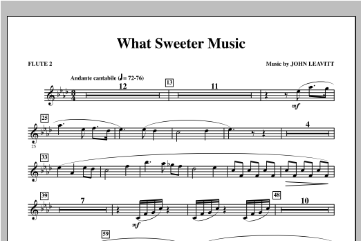 What Sweeter Music - Flute 2 Sheet Music