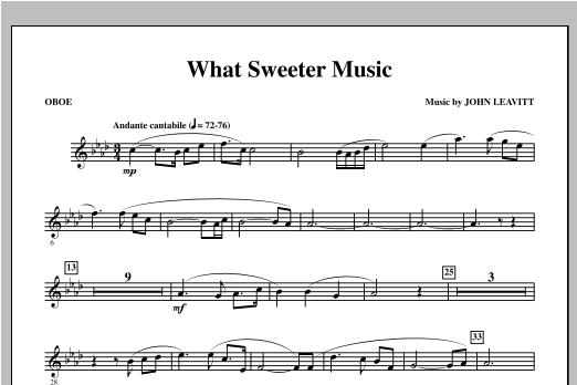 What Sweeter Music - Oboe Sheet Music