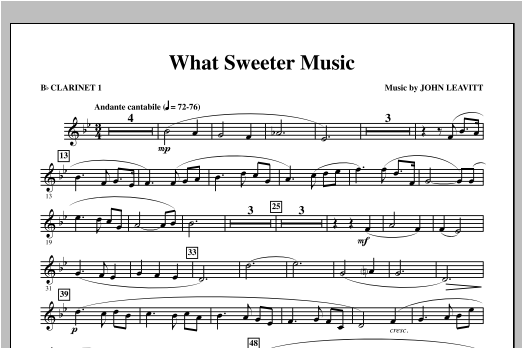 What Sweeter Music - Bb Clarinet 1 Sheet Music