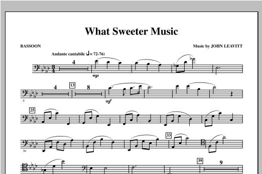 What Sweeter Music - Bassoon Sheet Music