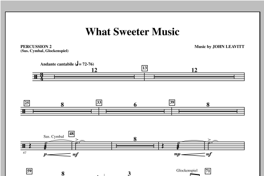 What Sweeter Music - Percussion 2 Digitale Noten