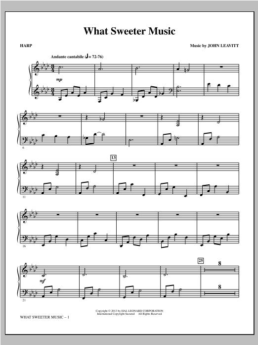 What Sweeter Music - Harp Sheet Music