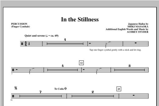 In the Stillness - Finger Cymbals Sheet Music