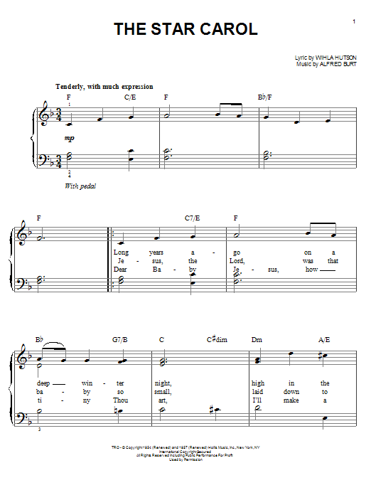 The Star Carol Sheet Music