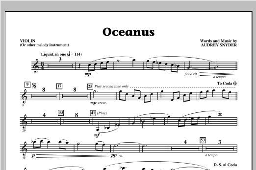 Oceanus - Violin Sheet Music