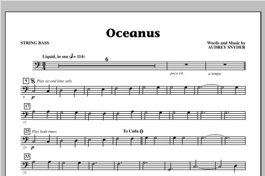 Oceanus - String Bass Sheet Music