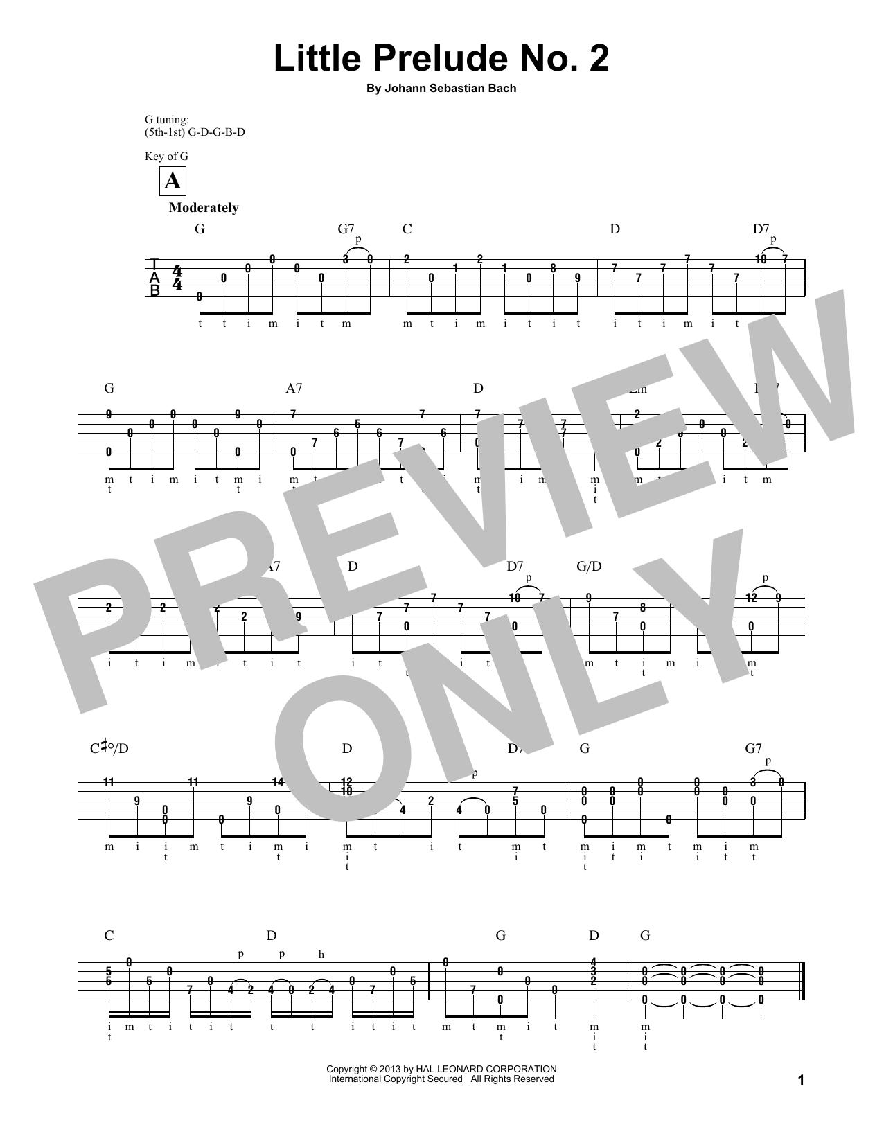 Little Prelude No. 2 in C Major Sheet Music
