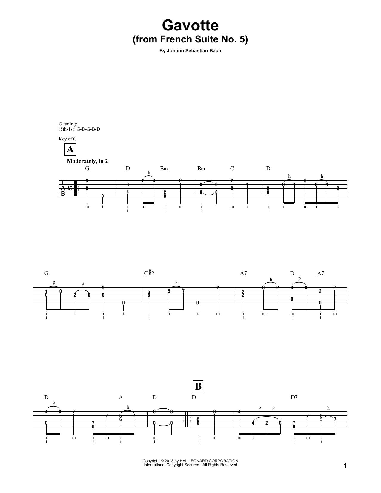"""Partition autre Cello Suite No. 5, BWV 1011 """"Gavotte I"""" de Mark Phillips - Autre"""
