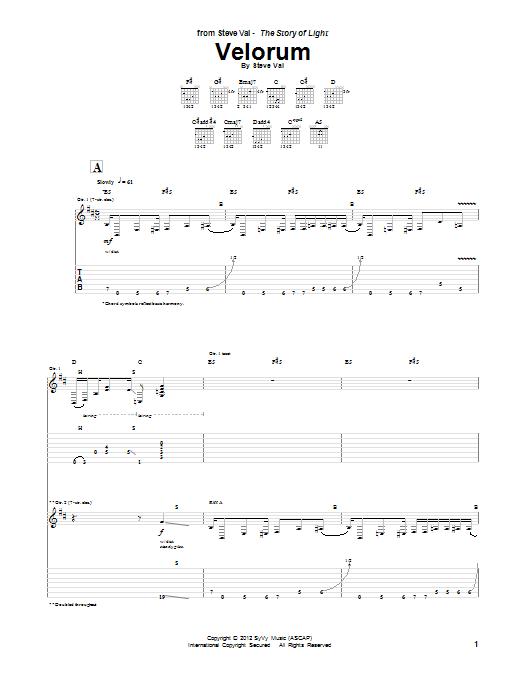 Velorum Sheet Music