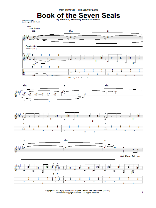 Book Of The Seven Seals (Guitar Tab)