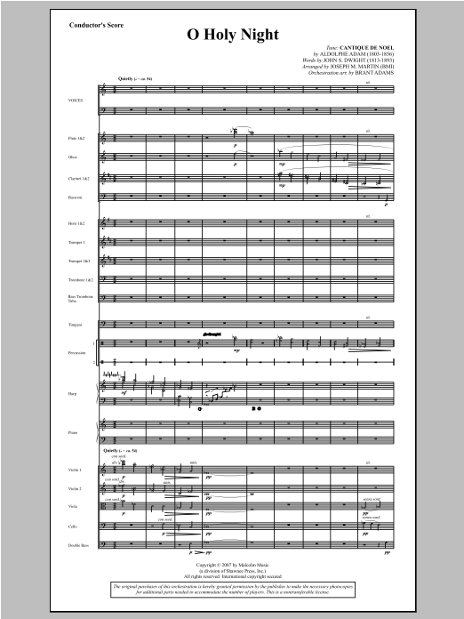 O Holy Night (from Carols For Choir And Congregation) - Score Sheet Music