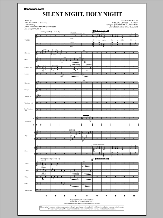 "Silent Night, Holy Night (from ""carols For Choir And Congregation"") - Score Sheet Music"