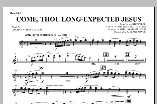 Come, Thou Long-Expected Jesus (from Carols For Choir And Congregation) - Flute 1 & 2 Sheet Music