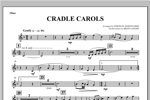 Cradle Carols (from Carols For Choir And Congregation) - Oboe Sheet Music