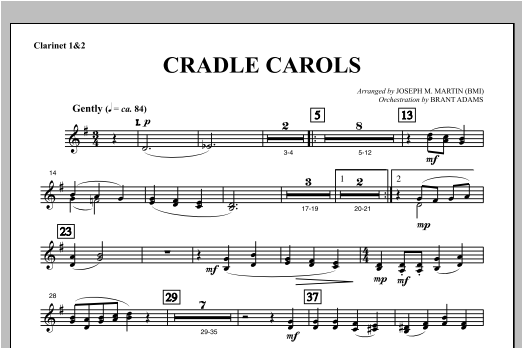 Cradle Carols (from Carols For Choir And Congregation) - Bb Clarinet 1,2 Sheet Music
