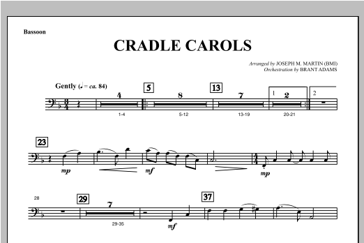 Cradle Carols (from Carols For Choir And Congregation) - Bassoon Sheet Music