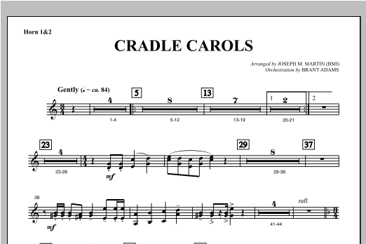 Cradle Carols (from Carols For Choir And Congregation) - F Horn 1,2 Sheet Music