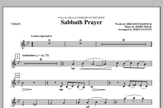 Sabbath Prayer - Violin (Choir Instrumental Pak)