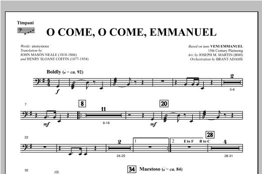 O Come, O Come, Emmanuel (from Carols For Choir And Congregation) - Timpani Sheet Music