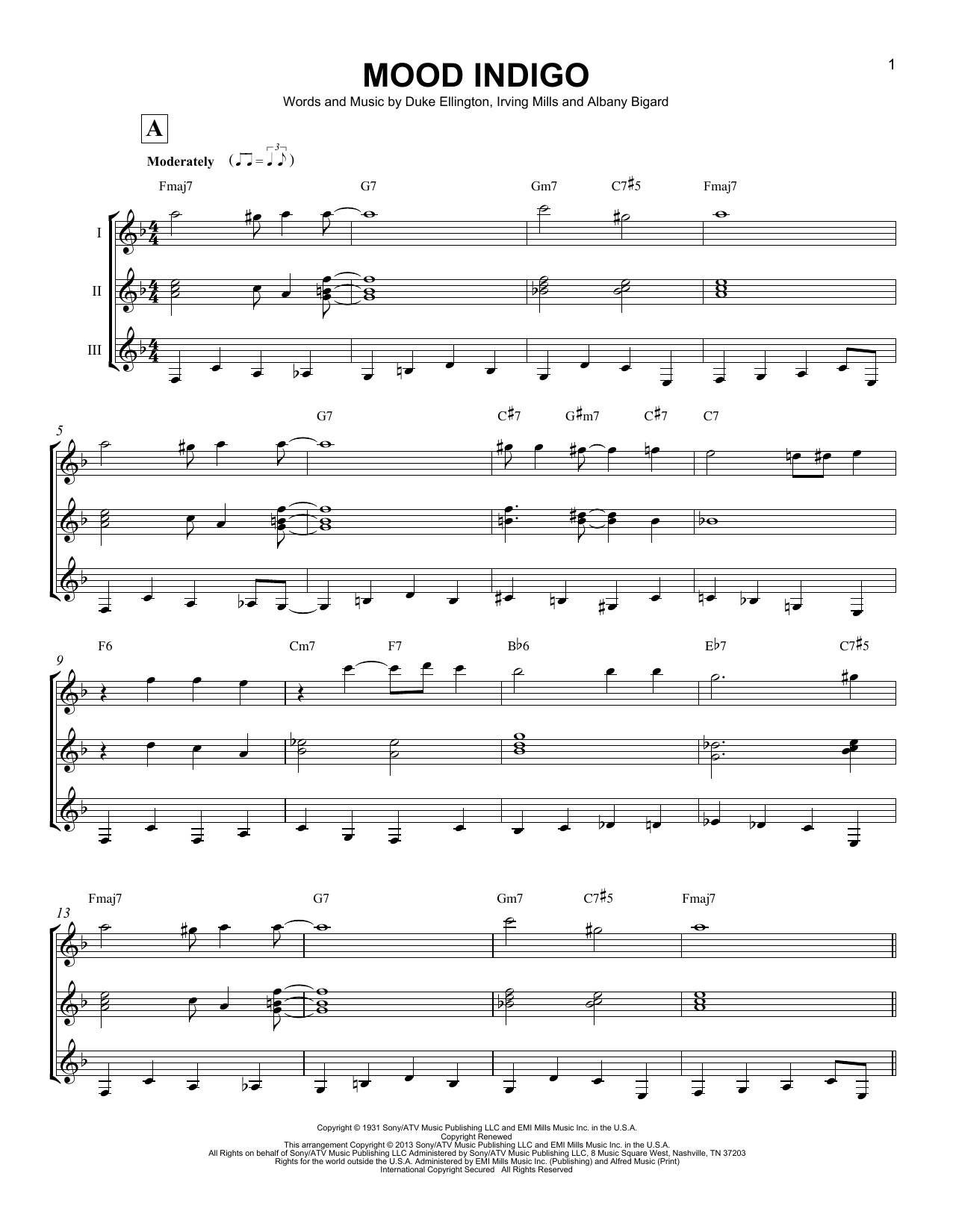 Mood Indigo Sheet Music