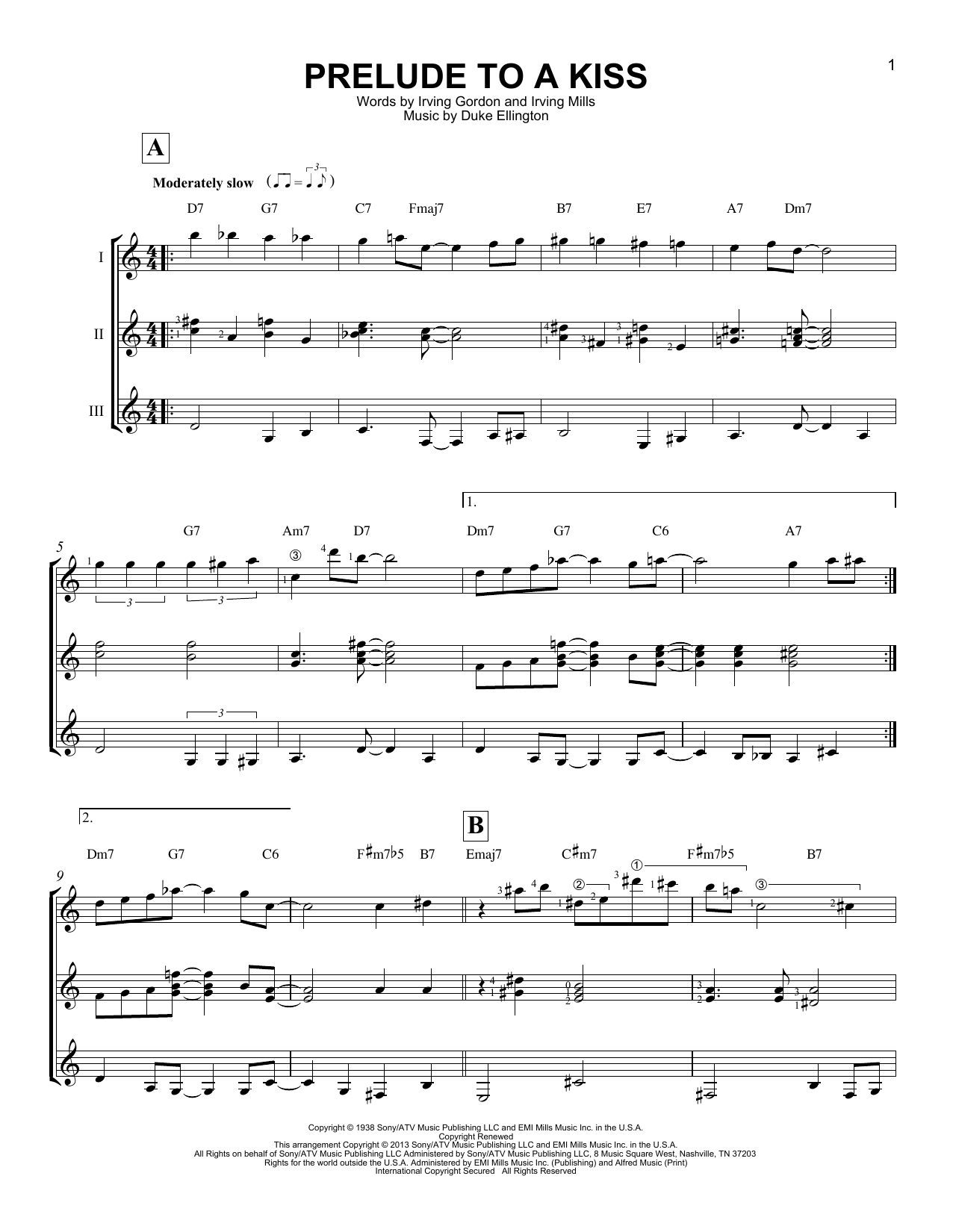 Prelude To A Kiss (Guitar Ensemble)