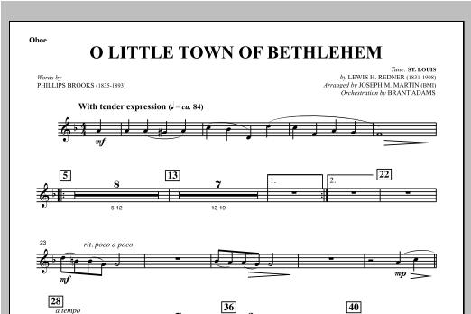 O Little Town Of Bethlehem (from Carols For Choir And Congregation) - Oboe (Choir Instrumental Pak)