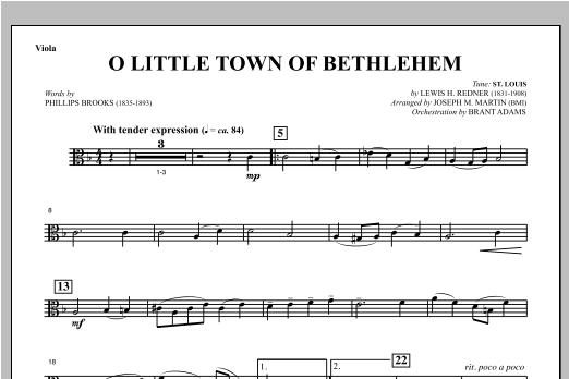 O Little Town Of Bethlehem (from Carols For Choir And Congregation) - Viola (Choir Instrumental Pak)