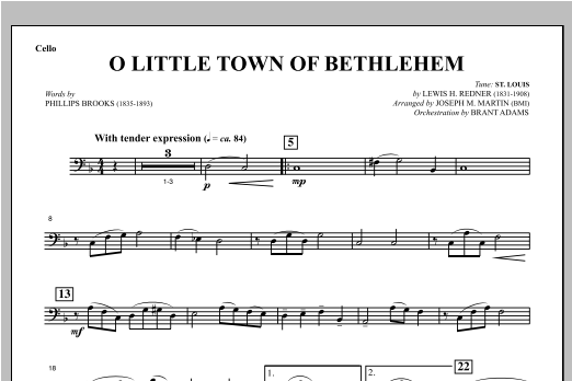O Little Town Of Bethlehem (from Carols For Choir And Congregation) - Cello Sheet Music