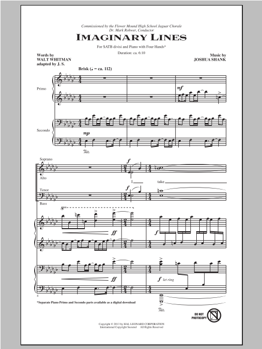 Imaginary Lines Sheet Music