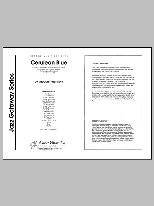 Cerulean Blue - Full Score Sheet Music