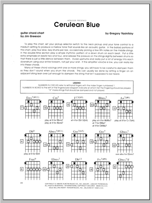 Cerulean Blue - Guitar Sheet Music