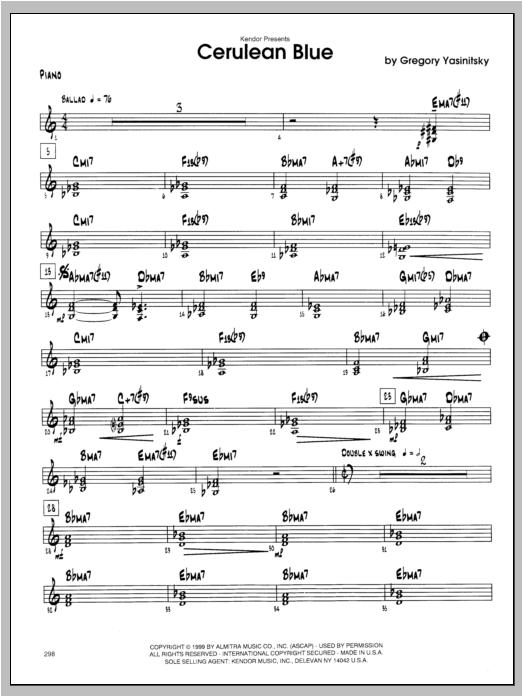 Cerulean Blue - Piano Sheet Music
