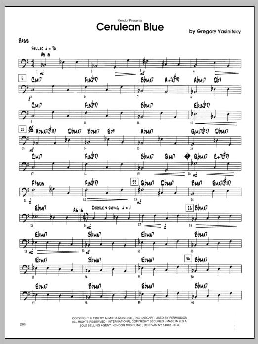 Cerulean Blue - Bass Sheet Music