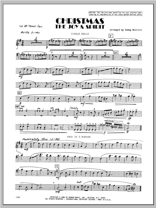 Christmas; The Joy & Spirit - Tenor Sax 1 Sheet Music
