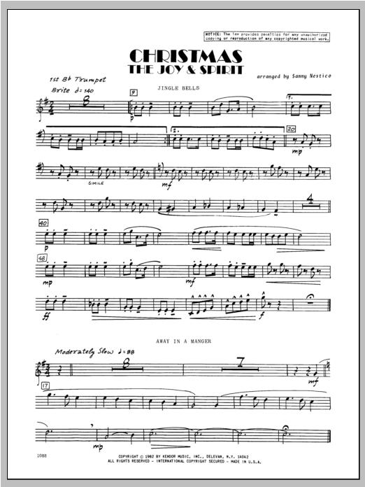 Christmas; The Joy & Spirit - Trumpet 1 Sheet Music