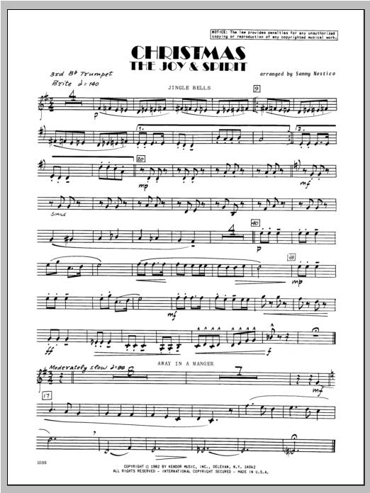 Christmas; The Joy & Spirit - Trumpet 3 Partition Digitale
