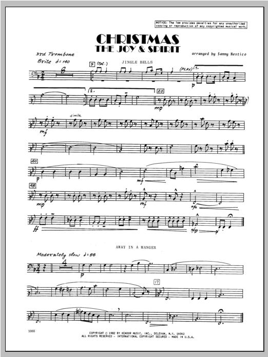 Christmas; The Joy & Spirit - Trombone 3 Sheet Music