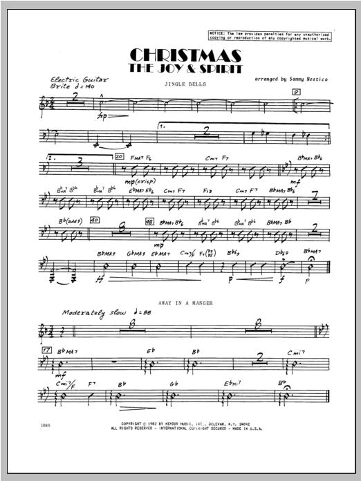 Christmas; The Joy & Spirit - Guitar Sheet Music