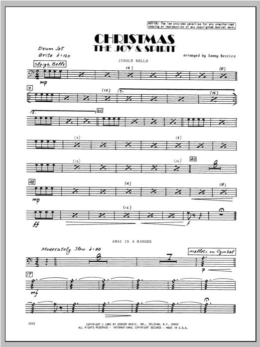Christmas; The Joy & Spirit - Drums Sheet Music