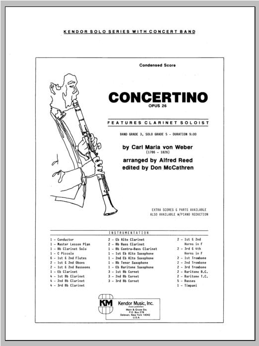 Concertino - Full Score Sheet Music