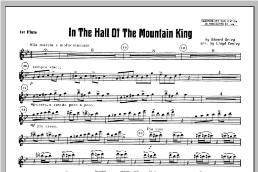 In the Hall of the Mountain King - Flute 1 Sheet Music