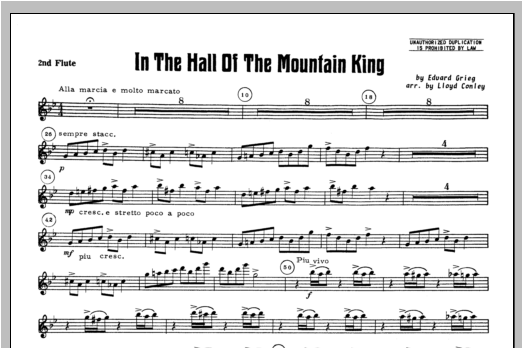 In the Hall of the Mountain King - Flute 2 Sheet Music