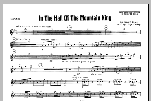 In the Hall of the Mountain King - Oboe 1 Sheet Music