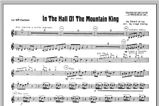 In the Hall of the Mountain King - Clarinet 1 Sheet Music