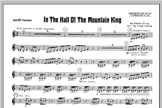 In the Hall of the Mountain King - Clarinet 2 Sheet Music