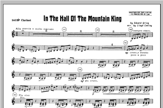 In the Hall of the Mountain King - Clarinet 3 Sheet Music