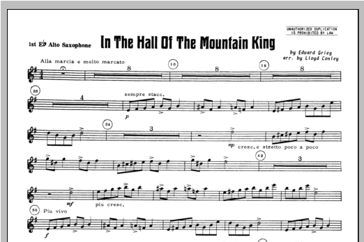 In the Hall of the Mountain King - Alto Sax 1 Sheet Music