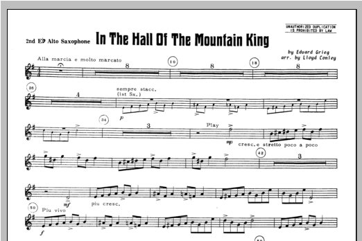 In the Hall of the Mountain King - Alto Sax 2 Sheet Music