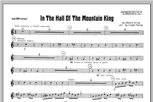 In the Hall of the Mountain King - Bb Cornet 2 Sheet Music